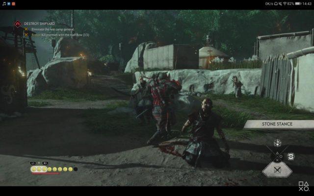 【ツシマ】戦闘はしっかりと弓弾きや回復をしないと難しそう【ゴーストオブツシマ】